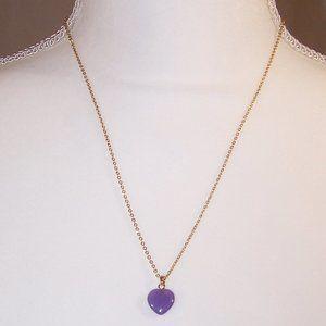 Vintage purple heart necklace